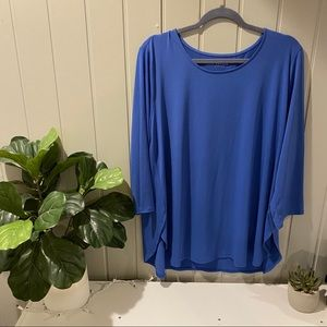 Susan Graver Royal Blue Top